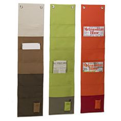 The Container Store > Fabric Wall-Mount Magazine Organizer