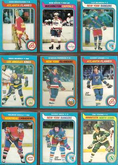 28-36 Dan Bouchard, Bob Sirois, Ulf Nilsson, Mike Murphy, Stefan Persson, Garry Unger, Rejean Houle, Barry Beck, Tim Young