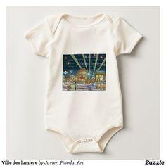 Ville des lumiere baby bodysuits