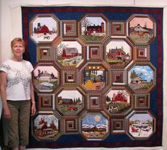 The Secret Life of Mrs. Meatloaf: Jan Z. and her amazing quilt.  What an awesome setting!