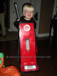 Cutest Little Dirt Devill Vacuum Costume for a Boy... Coolest Halloween Costume Contest