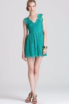 Green Lace Dress - Madison Marcus