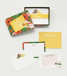 $22 for 12 Hello Darling Social Stationery Set