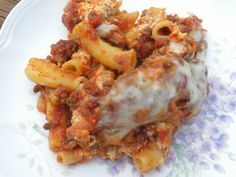 Crockpot Baked Ziti- very good, Makes a ton. I used cottage cheese (don't cook it for no more than 4-5 hrs on high or it will burn)