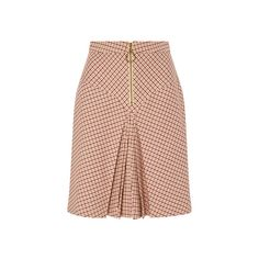 Manoush Bordeaux Pleated Checked Yoke Skirt ($385) ❤ liked on Polyvore featuring skirts, mini skirts, checkered skirt, checkerboard skirt, checked skirt, yoke skirt and high-waist skirt