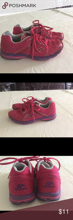 KARHU Flow Ride running shoes great on trails Pink with purple lining KARHU Flow a ride running shoes. Cute and comfortable KARHU Shoes Athletic Shoes
