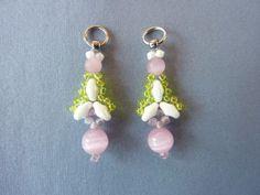 Twin Flanked Drop Earrings