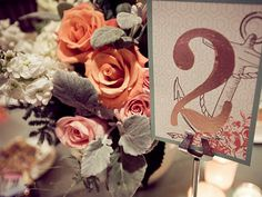 Cute wedding. I like the table number.