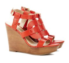 Cut out wedges - Kandace: also in Black, creama or luggage color!