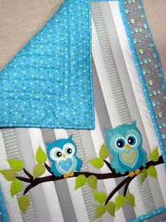 Owl Baby Quilt Whoooo wouldnt love to cuddle with this adorable baby quilt?? It…