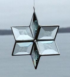 3D Clear Stained Glass Star Suncatcher  Medium by SNLCreations