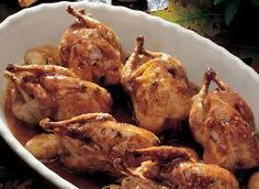 Baked Quail In Wine