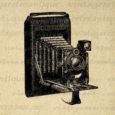 Printable Graphic Antique Camera Digital Illustration Download