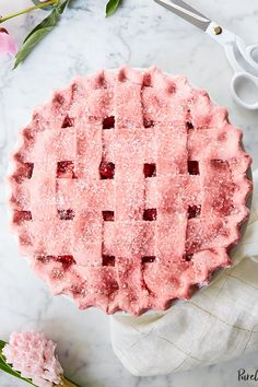 Pie with Strawberry Crust Strawberry Pie with PINK Strawberry Crust- made with freeze dried strawberry powder for a beautiful natural pink!Strawberry Pie with PINK Strawberry Crust- made with freeze dried strawberry powder for a beautiful natural pink! Pie Recipes, Sweet Recipes, Baking Recipes, Fancy Recipes, Simple Recipes, Light Recipes, Holiday Recipes, Healthy Recipes, Strawberry Pie