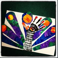 This is a very cute and fun art project for the younger children. They could use the feathers and write facts about the animal as well! -AP-
