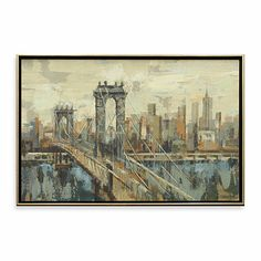 New York View 26-Inch x 38-Inch Wall Art - BedBathandBeyond.com
