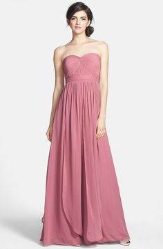 Jenny Yoo 'Aidan' Convertible Strapless Chiffon Gown (Regular & Plus Size)