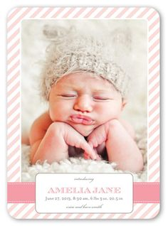 Striped Girl 5x7 Stationery Card by Blonde Designs   Shutterfly