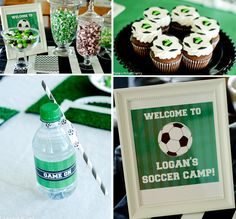 Risultati immagini per soccer party Soccer Birthday Parties, Football Birthday, Sports Birthday, Soccer Party, Soccer Theme, Soccer Cake, Childrens Party, Party Planning, Party Time