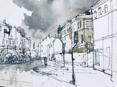 A selection of my work across marketing, photography & Illustration with a range of urban inspired artwork prints available to buy online. Landscape Sketch, Urban Landscape, Drawing Websites, Drawing Lessons, Buy Prints Online, Taunton Somerset, Watercolor Architecture, Bath Art, Artist Journal