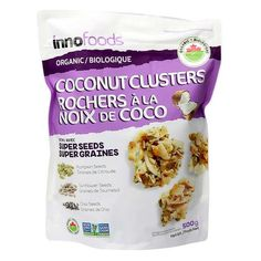 Organic coconut clusters with super seeds Pumpkin seeds, sunflower Seeds and shia Seeds Non GMO 500 g oz) Coconut Clusters, Food Court, Biologique, Sunflower Seeds, Dried Fruit, Pumpkin, Organic, Pumpkins, Squash
