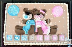 Gender Reveal Cake Baby Reveal Cake on Cake Central Baby Reveal Cakes, All Kids, Reveal Parties, Baby Shower Cakes, Little Gifts, Gender Reveal, Baby Shower Decorations, Canvas Art, Cake Baby