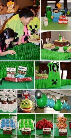 Any Minecraft-obsessed kid would LOVE this DIY party! SO many ideas!