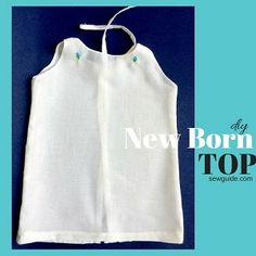 Make a simple {Newborn Baby Top} - Free Sewing pattern & Tutorial - Sew Guide Boys Sewing Patterns, Baby Girl Dress Patterns, Baby Clothes Patterns, Clothing Patterns, Baby Frock Pattern, Layette Pattern, Frock Patterns, Baby Dress Tutorials, Sewing Baby Clothes