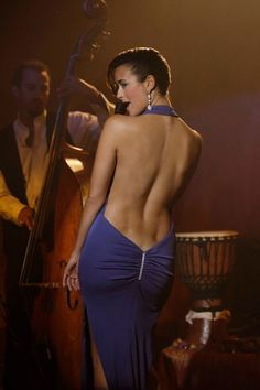 my goal -- to have a back that is not flabby, and if I can get lower back dimples, even better.  Cote de Pablo is gorgeous.  Rawr.  fiesty.