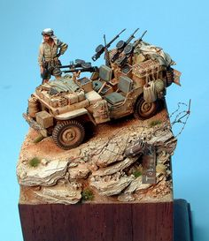 Military Diorama, Military Art, Desert Diorama, North African Campaign, Military Action Figures, Desert Colors, Model Maker, Model Tanks, Military Modelling