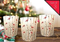 Banberry Designs Cardinal Candles - Set of 3 Frosted Glass Votive Holders - Red Cardinals on Birch Tree Branches - 3 LED Tealight Candles Included * Read more at the image link. (This is an affiliate link) Led Tealight Candles, Glass Tealight Candle Holders, Christmas Candle Holders, Candle Holder Decor, Red Candles, Candle Centerpieces, Tea Light Candles, Tea Lights, Frosted Glass