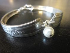 Silverware Spoon Bracelet  Vintage Jewelry  by TheSilverCraftsman, $25.00