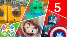 Ep.5! ToyRap Gashapon Toy Vending Machine Surprise Eggs! Lego Minifigure...