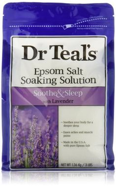 Bath Salts: Dr. Teal S Epsom Salt Soaking Solution Soothe And Sleep With Lavender 3 Lb (3 Pack -> BUY IT NOW ONLY: $35.8 on eBay!
