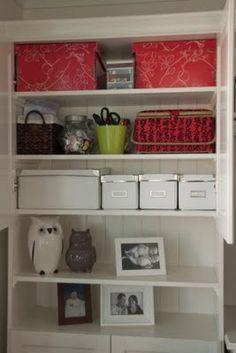 Organising inside a cupboard  bizzydayz.blogspot.com.au