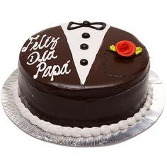 Buttercream Cake Designs, Cake Decorating Frosting, Cake Decorating Videos, Birthday Cake Decorating, Birthday Cakes For Men, Happy Fathers Day Cake, Dad Cake, Decoration Patisserie, Peach Cake