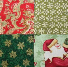 60 2.5 inch CHRISTMAS Fabric Quilting Squares  by RedNeedleQuilts, $8.50