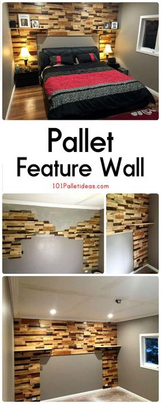 Pallet Feature Wall | 101 Pallet Ideas