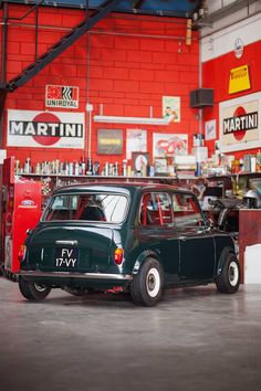 The Mini Cooper is probably the most famous giant killer in motorsport history, it was the performance version of the classic Mini, a car that had Mini Cooper Classic, Classic Mini, Fiat 500, Mini Coper, Minis, Mini Morris, Car Workshop, Bmw Classic Cars, Classic Motors