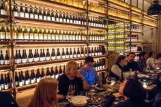 Food - The New York Times; sweet wall of wine in a restaurant.