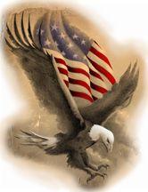 Land of the Free Eagle Tattoo Design
