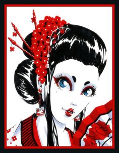 geisha girl by porcupine princess