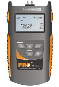 Precision Rated Optics Budget Hand Held Power Meter (-60 to +3 dBm), No USB