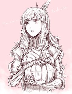 A really nice picture of Sumia. (Fire Emblem Awakening)  Look! She baked you a pie!