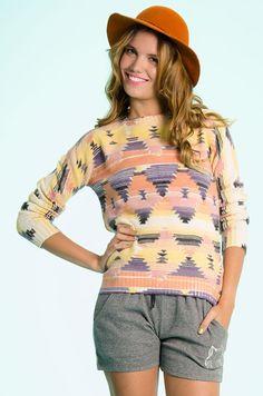 $349 Sweater Azteca - Multicolor en DeluxeBuys!