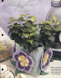 Pansy Plant Holder Plastic Canvas Pattern by needlecraftsupershop, $3.50