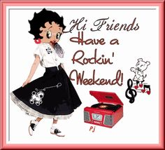 Hi Friends Have A Rockin Weekend Betty Boop Dancing Animated Picture Happy Weekend Quotes, Happy Friday, Happy Saturday, Good Morning Greetings, Good Morning Wishes, Thursday Greetings, Gif Animé, Animated Gif, Black Betty Boop