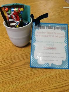 You've been mugged! Show your appreciation with this cute idea!