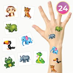 FashionTats Kids Jungle Animals Temporary Tattoos | Pack of 24 Tattoos | Kids Party Supplies Decorations and Favors | Skin Safe | MADE IN THE USA ** Check out this great product. (As an Amazon Associate I earn from qualifying purchases) Tattoos For Kids, Kids Party Supplies, Body Makeup, Amazon Associates, Jungle Animals, Temporary Tattoos, Beauty Hacks, Favors, Decorations