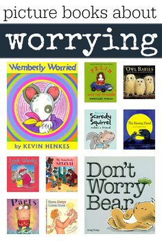 Books about worrying for kids. Books can help kids understand their feelings. A list of picture books about worrying: Heard about this through @abbypediatricot